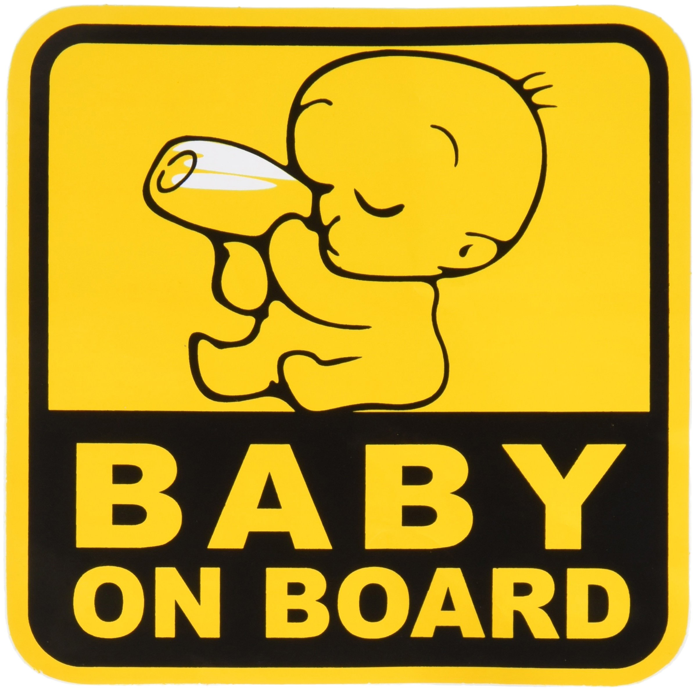 baby on board baby safety sign car sticker 5 x 5 baby