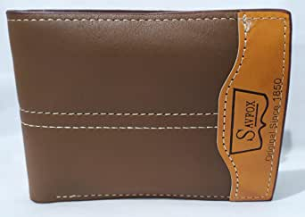 Savfox bifold wallet For Men, Faux leather Brown