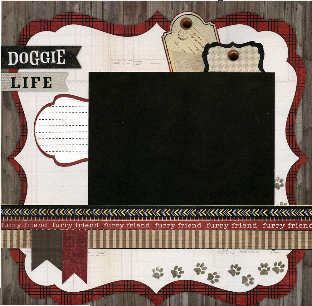 Doggie Life - Premade Pet Scrapbook Page