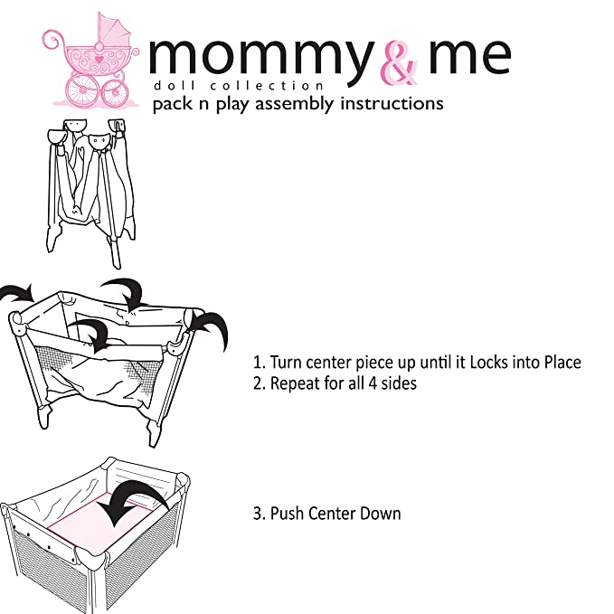 Amazon Mommy Me Doll Pack N Play Fits 18 Ag Doll With