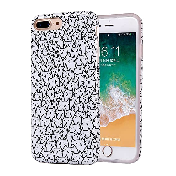 new styles 21542 aeb45 iPhone 8 Plus Case, Clear Bumper Glossy TPU Soft Rubber Silicone Cover  Phone Case [Support Wireless Charging] for Apple iPhone 7 Plus/iPhone 8  Plus ...