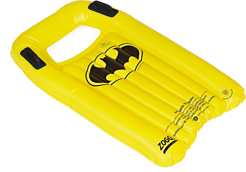 Negro//Amarillo 3/a/ños Zoggs Kids Batman Hinchable Tabla de Bodyboard//Surf Rider