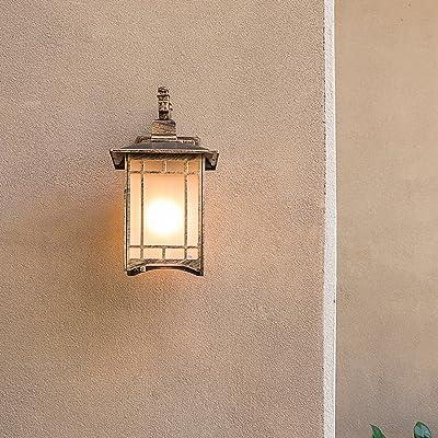 1411 Nouveau chinois rétro extérieur imperméable à l'eau mur lampe escalier extérieur jardin lumières villa balcon couloir allées XQQQ