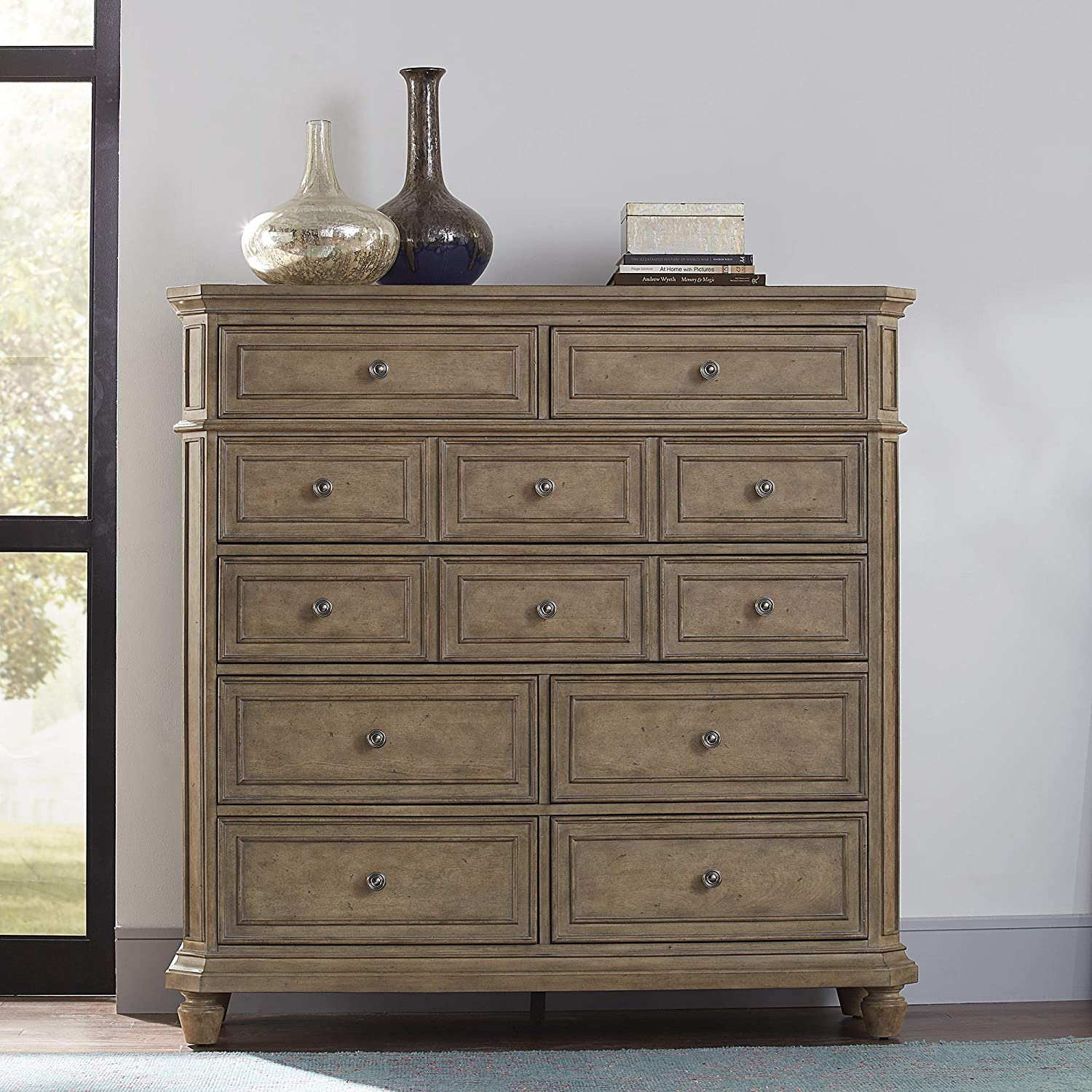Liberty Furniture Industries Laurels Chest, 8 Drawer, Brown