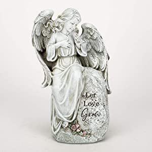 """Joseph's Studio by Roman - Collection, 12"""" H Seated Angel Garden, Made from Resin, High Level of Craftsmanship and Attention to Detail, Durable and Long Lasting"""