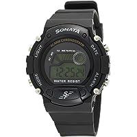 Sonata Digital Grey Dial Men's Watch -NK7982PP03