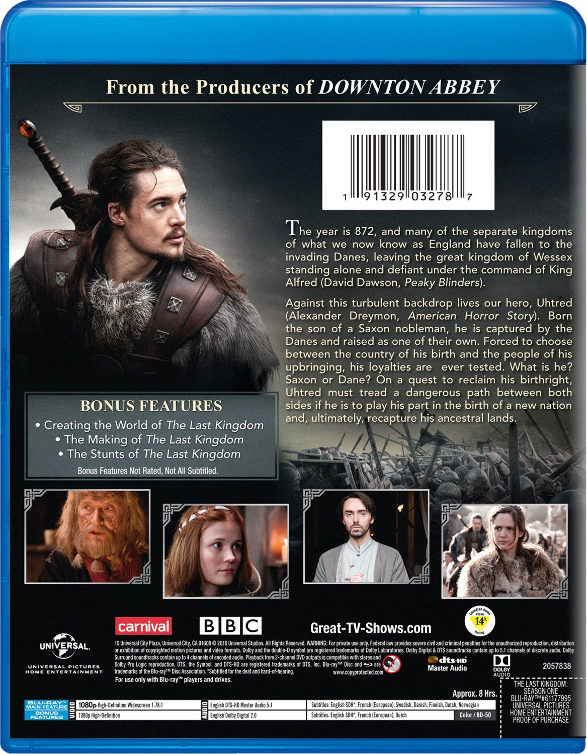 Amazon com: The Last Kingdom: Season One [Blu-ray]: Alexander