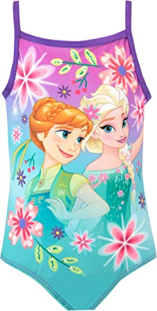 Disney Frozen Girls Swimsuit Costume Elsa