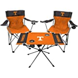 Rawlings NCAA 3-Piece Tailgate Kit, 2 Gameday Elite Chairs and 1 Endzone Tailgate Table, University of Tennesse Knoxville