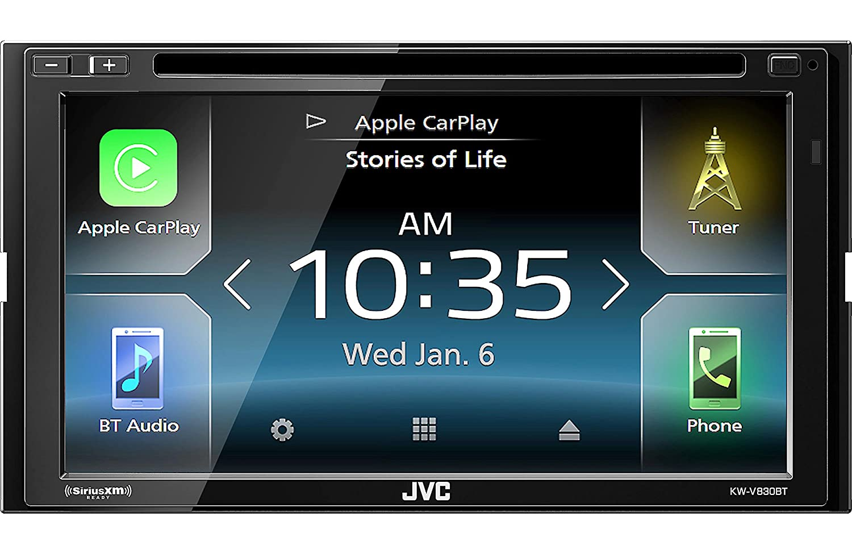 JVC KWV830BT Double DIN CD Bluetooth Stereo Car Audio Receiver ...