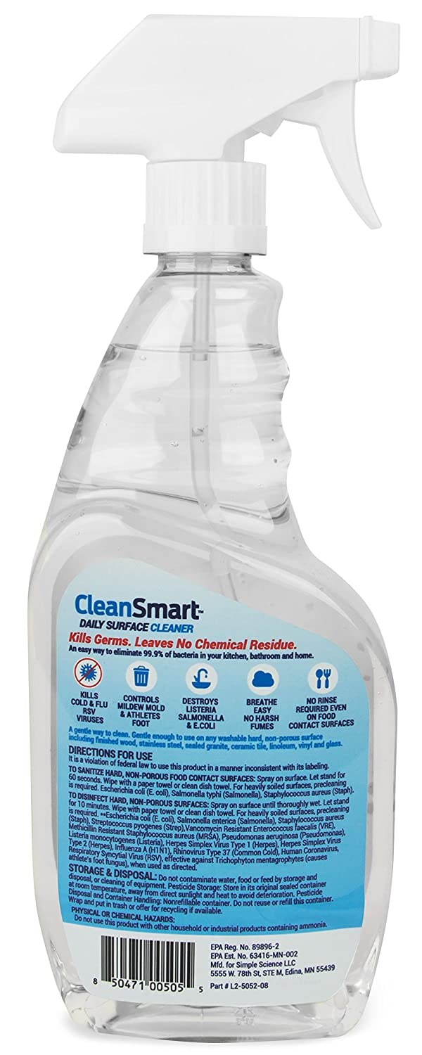Amazon.com: CleanSmart Daily Surface Cleaner, Home Use and CPAPs ...