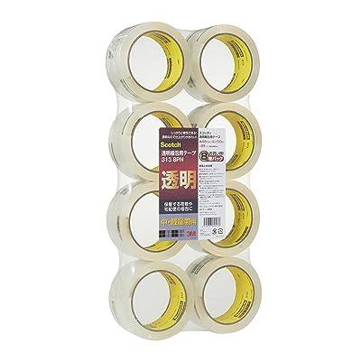 3M Scotch 透明梱包用テープ 中軽量用 48mm×50m 8巻 送料込481円【100均とは違う】