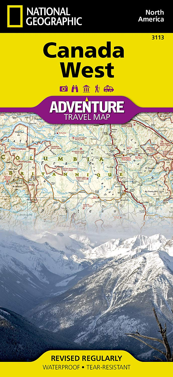 Travel Map Of Canada.Canada West National Geographic Adventure Map National Geographic