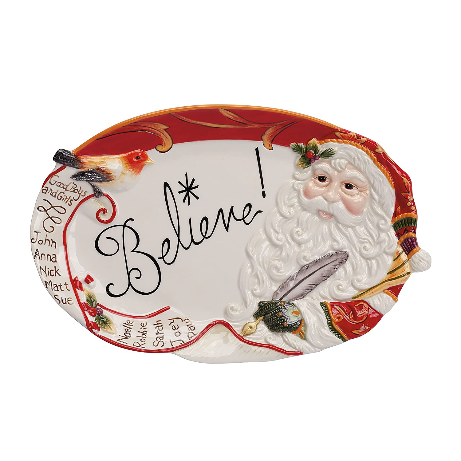 Amazon.com: Home Warms The Heart Collection, Holiday Sentiment Tray:  Christmas Cookie Platter: Kitchen & Dining