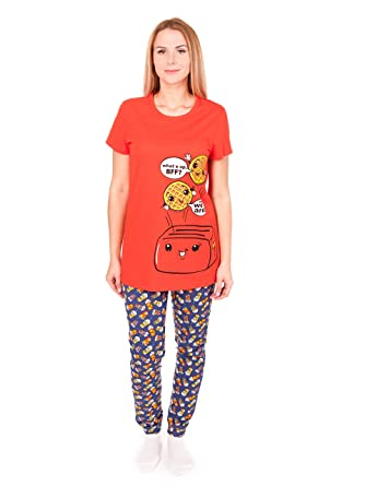 Amazon.com  Pajamas for Women Short Sleeve T-Shirt Sleepwear ... 4a4e6c83e