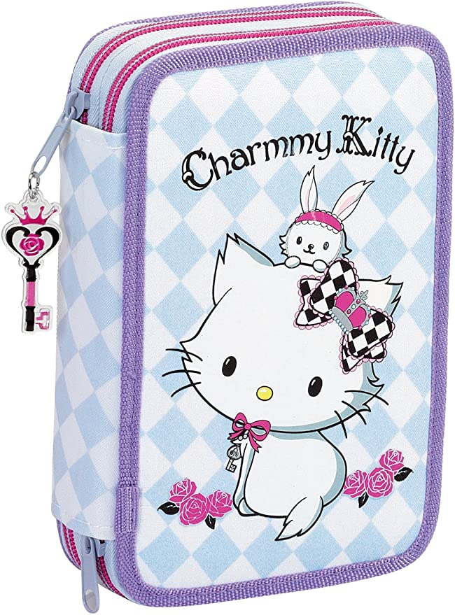 Charmmy Kitty Hello Kitty escolar lápiz Casos Funda de lápices estuche escolar: Amazon.es: Oficina y papelería