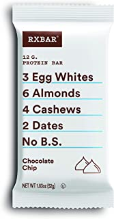 product image for RXBAR, Chocolate Chip, Protein Bar, 1.83 Ounce (Pack of 24), High Protein Snack, Gluten Free