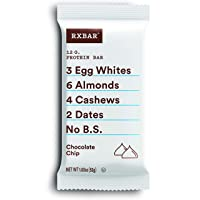 RXBAR, Chocolate Chip, Protein Bar, 1.83 Ounce (Pack of 12), High Protein Snack,...