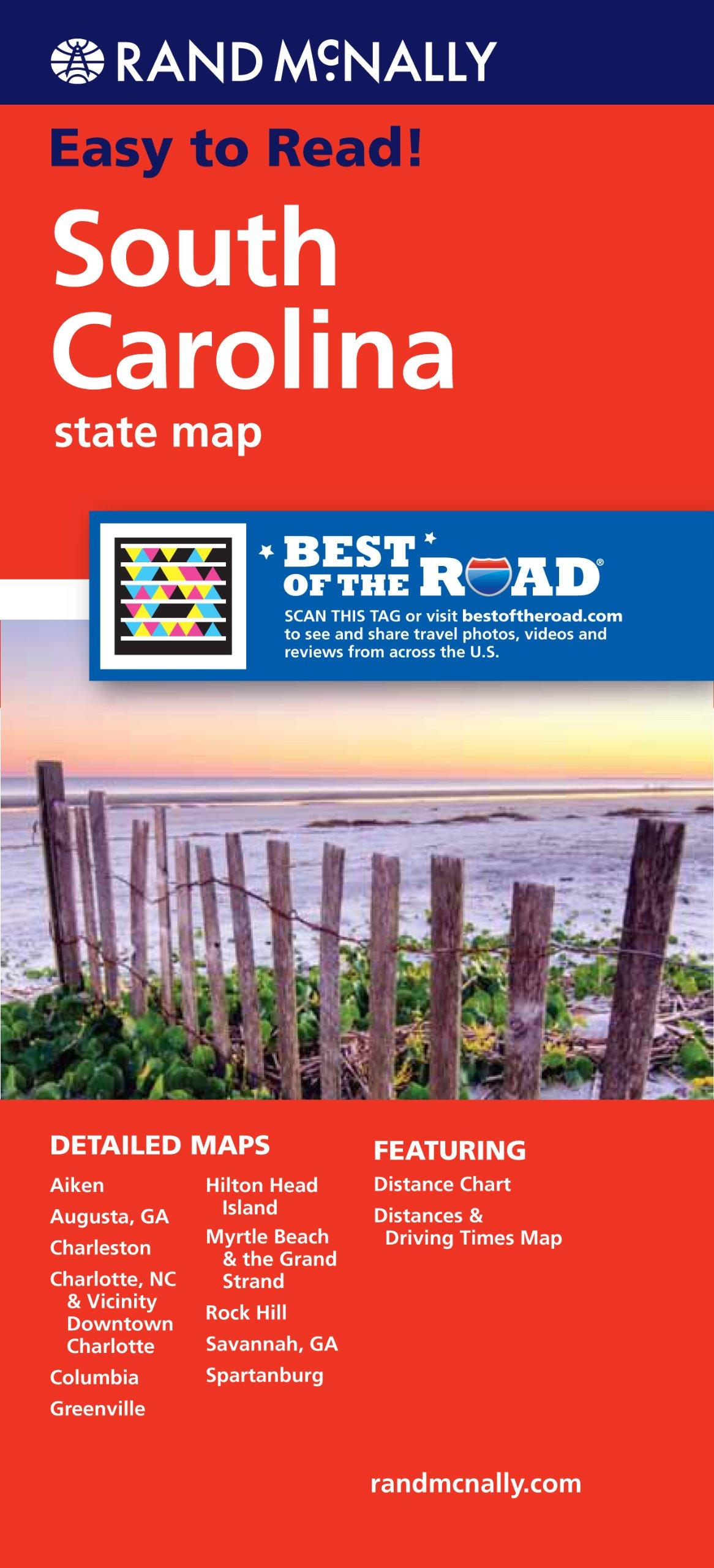 Rand McNally Folded Map Carolina