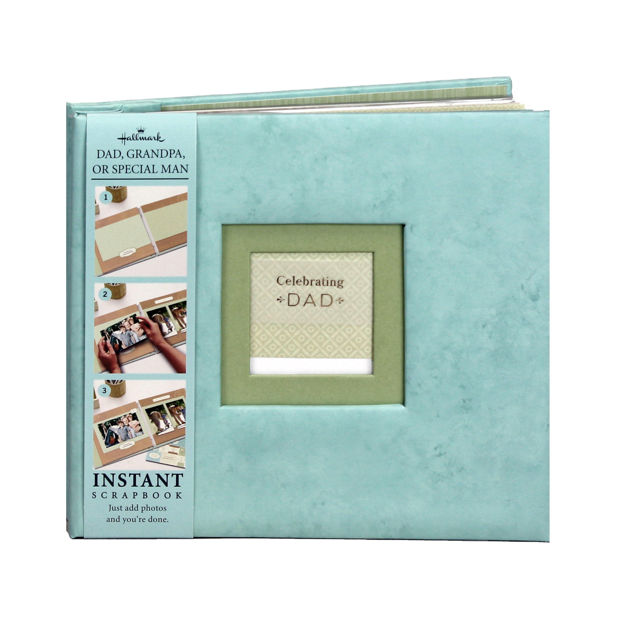 Hallmark Album Celebrating Dad Instant Scrapbook and Memory Book - Photo Album - 9.5''x9''            by Hallmark