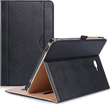 Procase Funda PU Galaxy Tab A 10.1 2016 Modelo Viejo, Carcasa Folio con Soporte Múltiple Ángulo y Bolsillo de Documento, Funda Libro para Galaxy Tab A 10,1 Pulgadas SM-T580 T585 -Negro: Amazon.es: