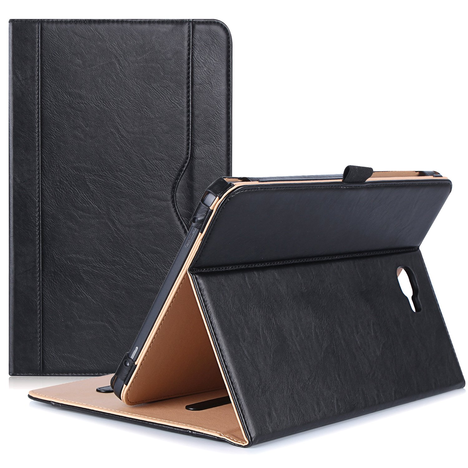 ProCase Samsung Galaxy Tab A 10.1 Case - Stand Folio Case Cover for Galaxy Tab A 10.1'' Tablet SM-T580 T585 T587 (NO S Pen Version), with Multiple Viewing Angles, Document Card Pocket - Black