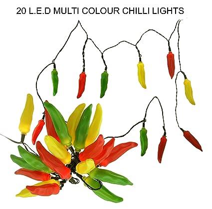 promo code 6d43e f3847 20 LED Multi Colour Chilli Pepper Lights on a light String