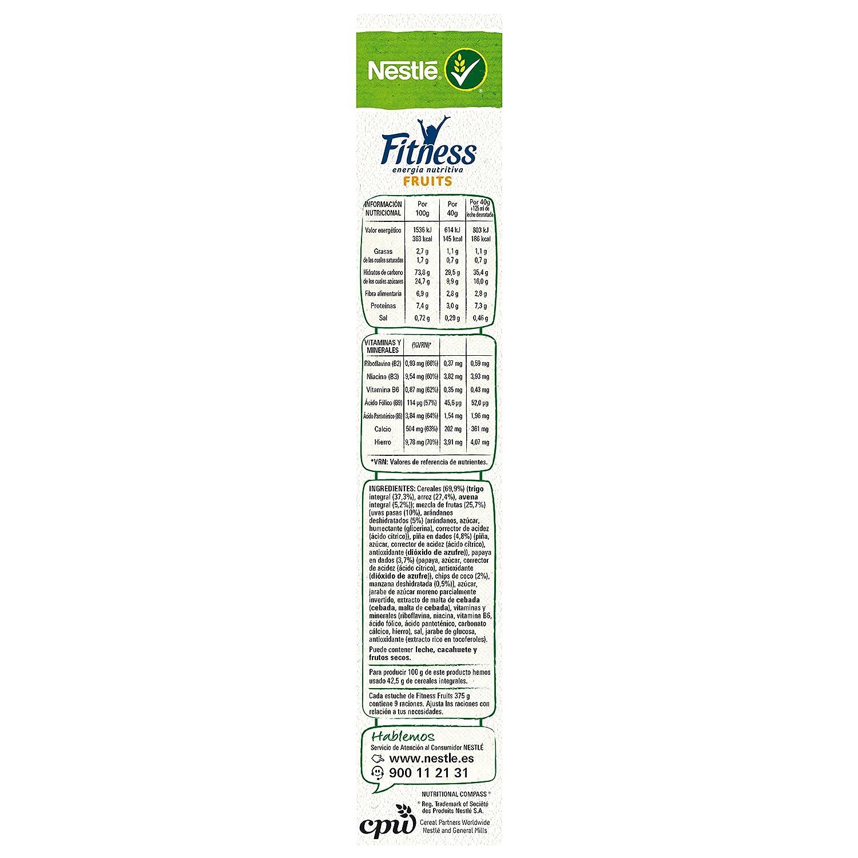 Nestlé Fitness - Cereales de Trigo Integral y Arroz Tostados con Frutas - 375 g: Amazon.es: Alimentación y bebidas