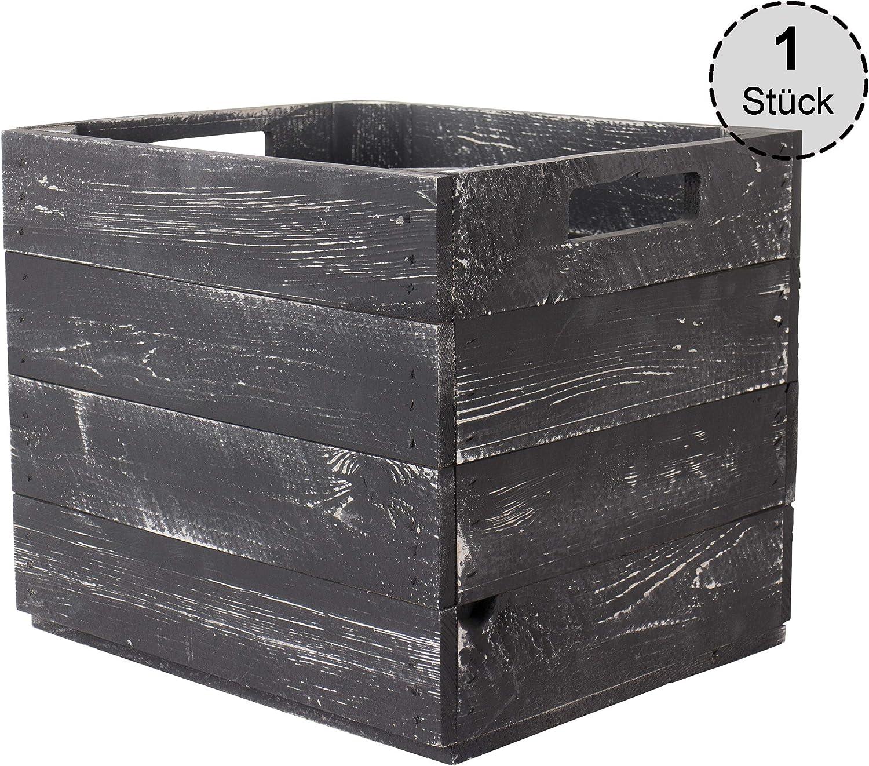 Vintage Möbel 24 GmbH IKEA Kallax Expedit Caja de Madera usada para estanterías, 33 x 38 x 33 cm, Color marrón: Amazon.es: Juguetes y juegos
