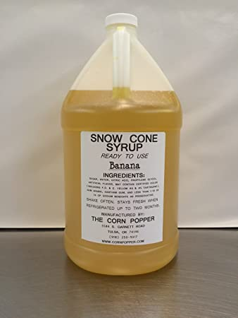 Homemade snow cone syrup with corn