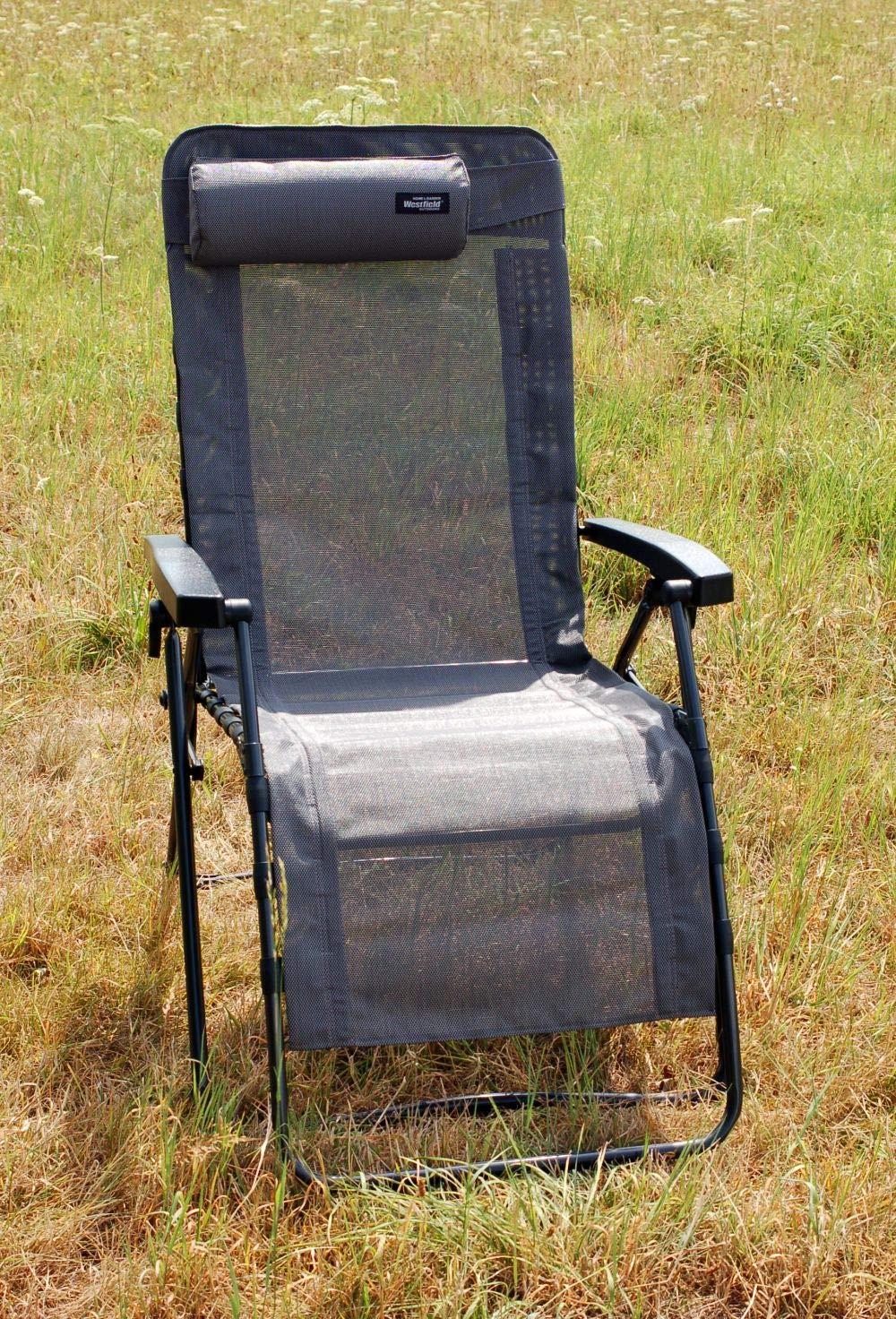 Westfield Home /& Garden Relax Lounger grau Hochlehner Gartenliege Textilene wasserabweisend 140 kg belastbar