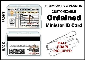 Amazon.com: Ordained Ministro tarjeta de identificación ...