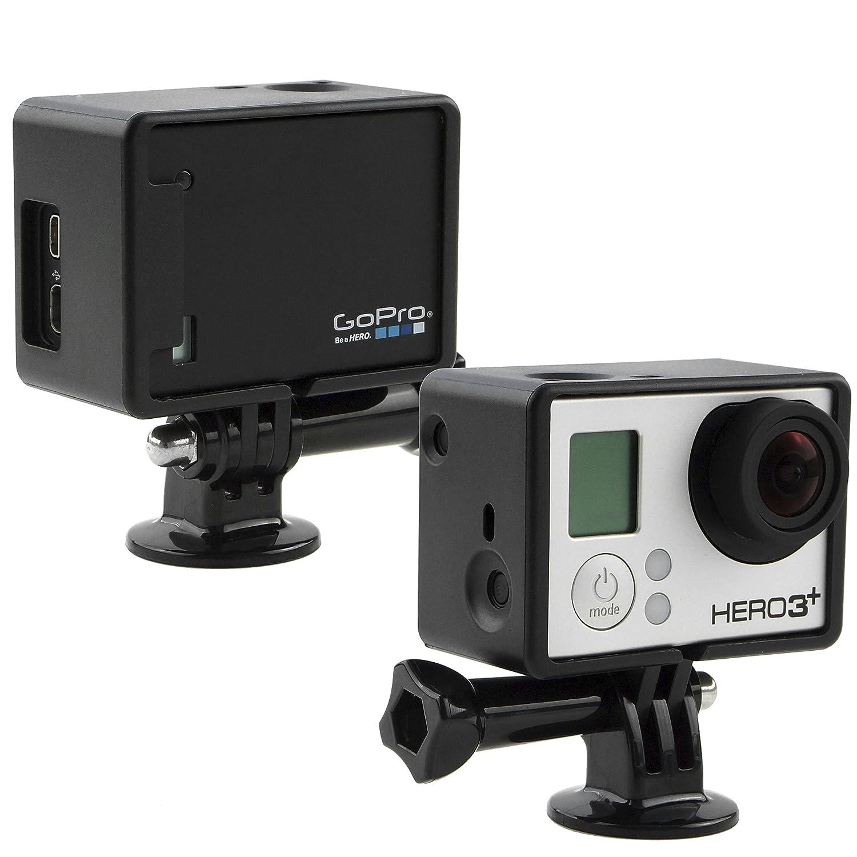 CamKix Extensión Montaje de Marco Compatible con GoPro Hero 4 Negro y Plateado, 3 y 3+ / USB, HDMI, y SD Tragamonedas Totalmente Accesible – Ligero ...