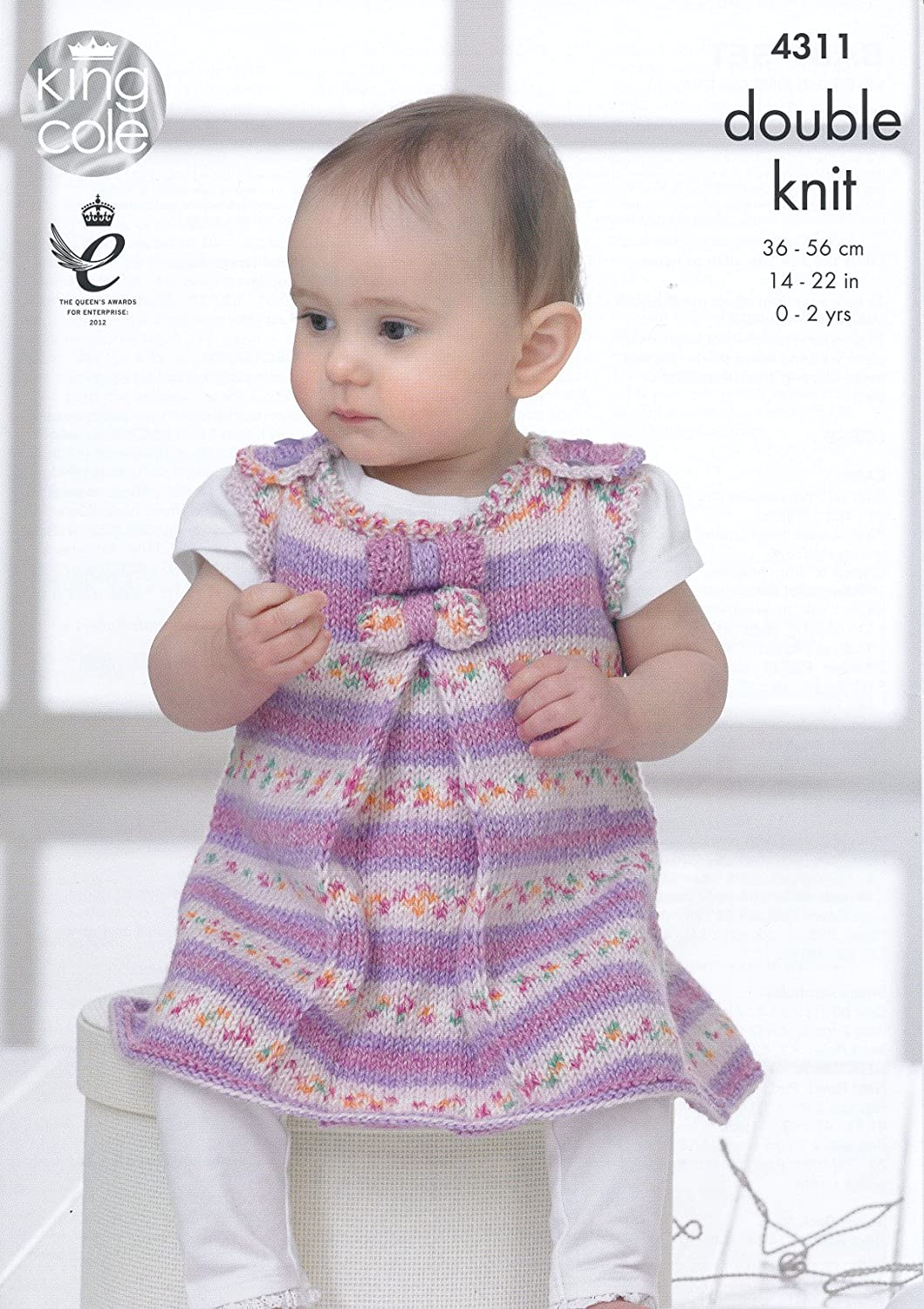 King Cole Double Knitting Pattern Dress Tunic Coat & Hat Set with ...