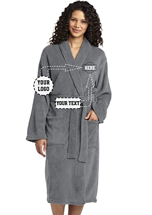 8e3751395d Image Unavailable. Image not available for. Color  Personalized Embroidered  Robes – Custom SPA Robe ...