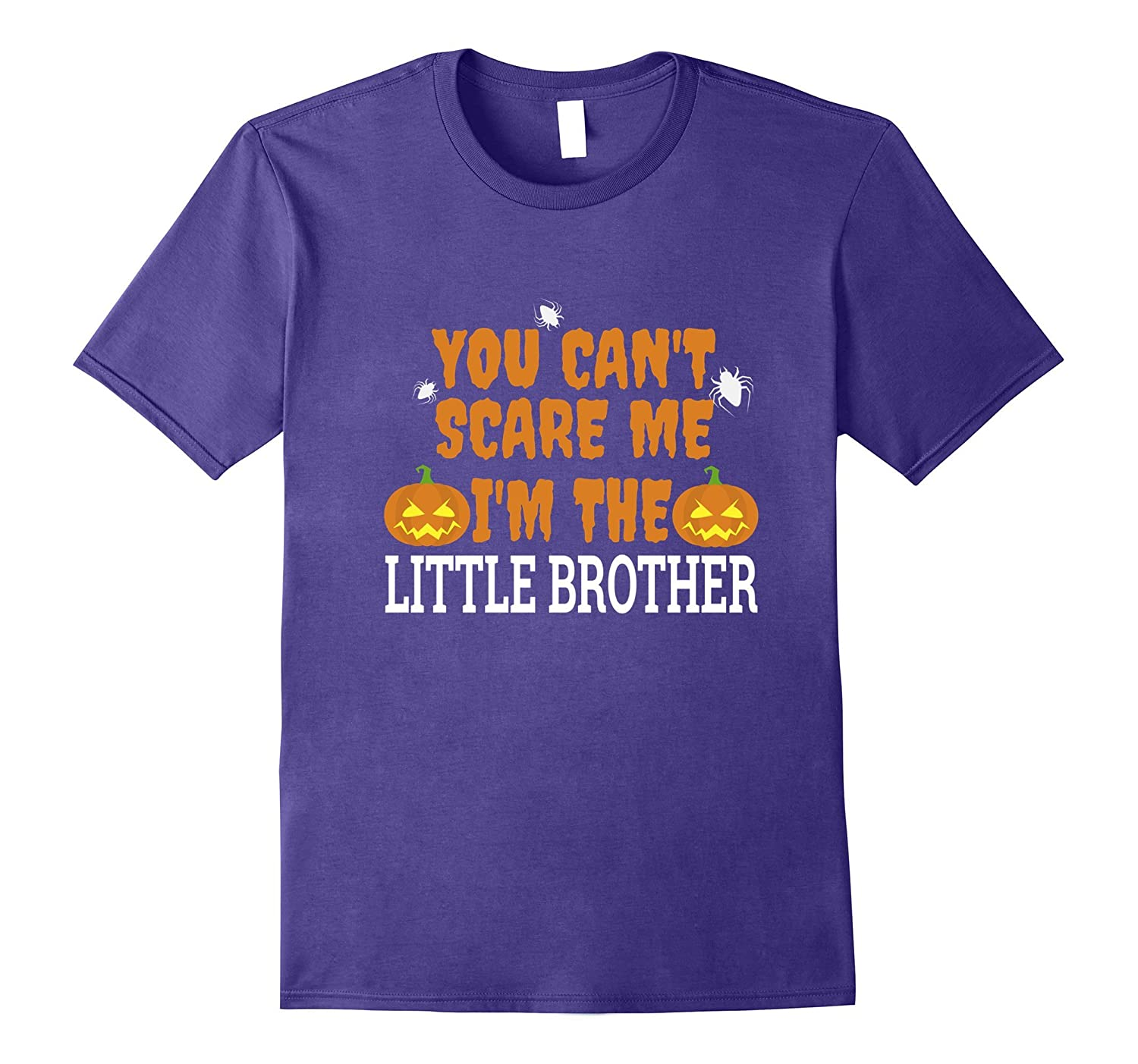 Can't Scare Me I'm Little Brother Scary T-shirt Halloween-Art