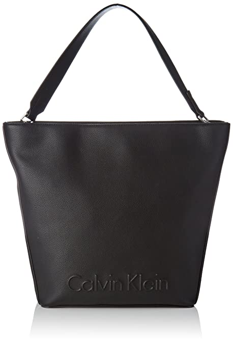 c6bc0ebcf184 Calvin Klein Edge Hobo - Borse a secchiello Donna, Nero (Black), 13x34x28  cm (B x H T): Amazon.it: Scarpe e borse