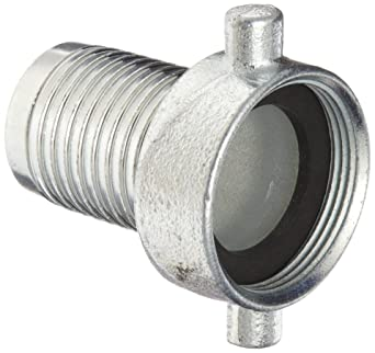 King Short Shank Suction Coupling with Iron Nut Dixon FCSM300 Steel Hose Fitting 3 NPSM Female x 3 Hose ID Barbed