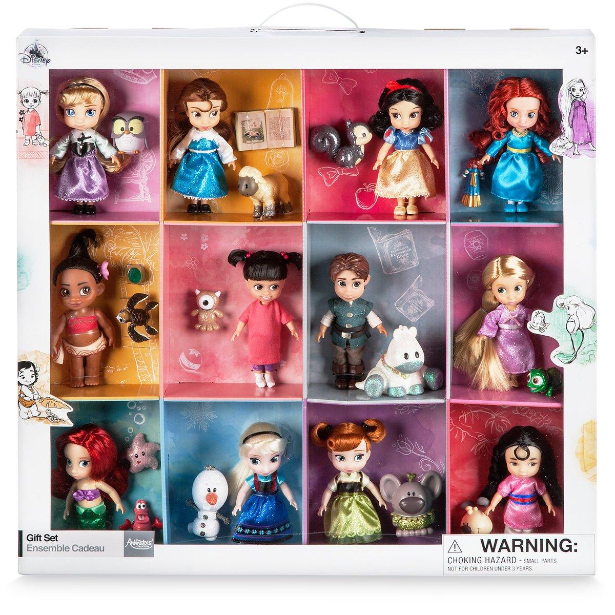 Disney/ディズニー アニメーターズコレクション プリンセスミニドールギフトセット 12人+お友達付き B077D57S4R