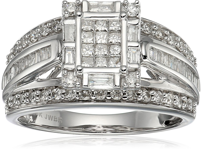 10K Yellow Gold Diamond Fashion Ring (1 cttw), Size 8
