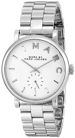 commercialisable plutôt sympa vraiment à l'aise Marc Jacobs Mbm3242 36 mm Acier Argent Bracelet et Coque Montre Femme