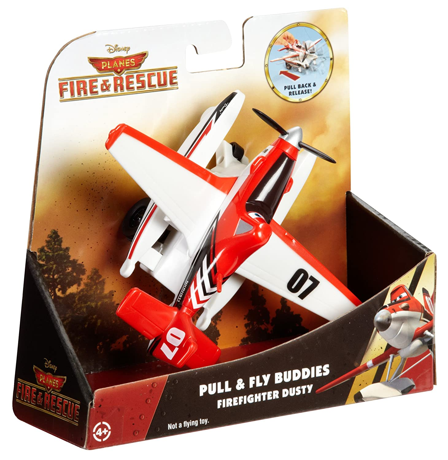 Disney Planes Fire /& Rescue Pull /& Fly Firefighter Dusty Vehicle CDW04