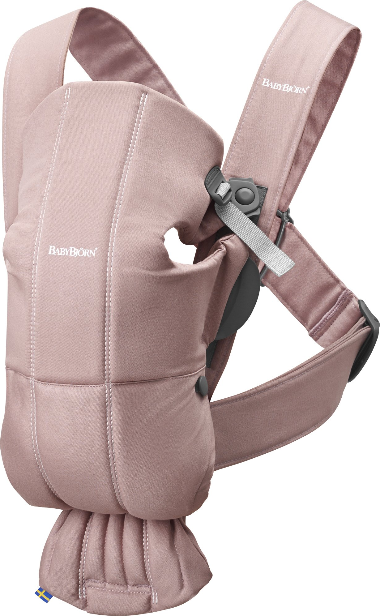 BABYBJORN Baby Carrier Mini in Cotton, Dusty Pink