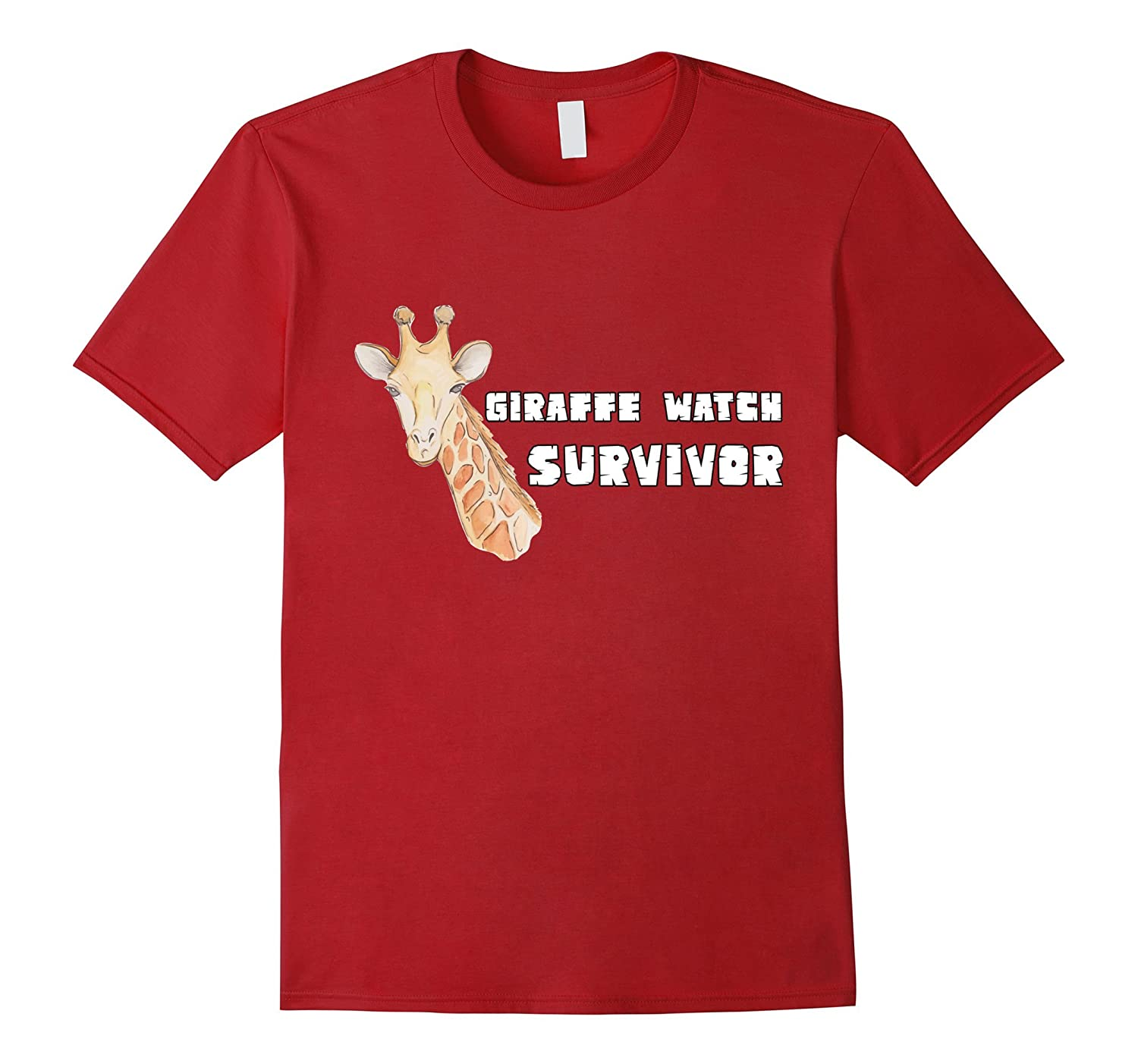 April The Giraffe Watch Survivor T-Shirt Giraffe Joke Tee-CD