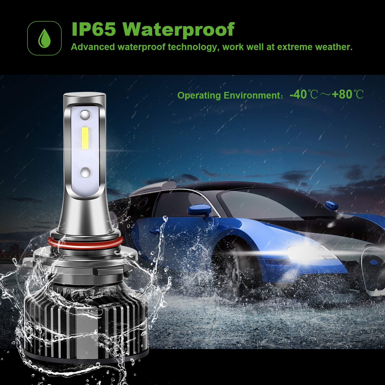2 Ampoules POMILE Phares pour Voiture et Moto 56W 8000LM Super Bright 6000K lumi/ère Blanche Ampoules Ampoules 9005 LED blanc, 9005//9006