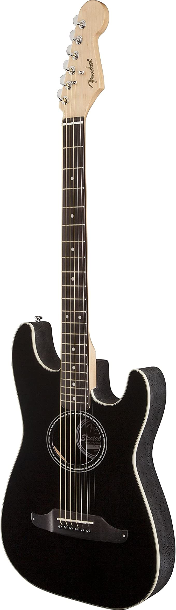 Fender Stratacoustic Standard Black · Guitarra acústica: Amazon.es ...