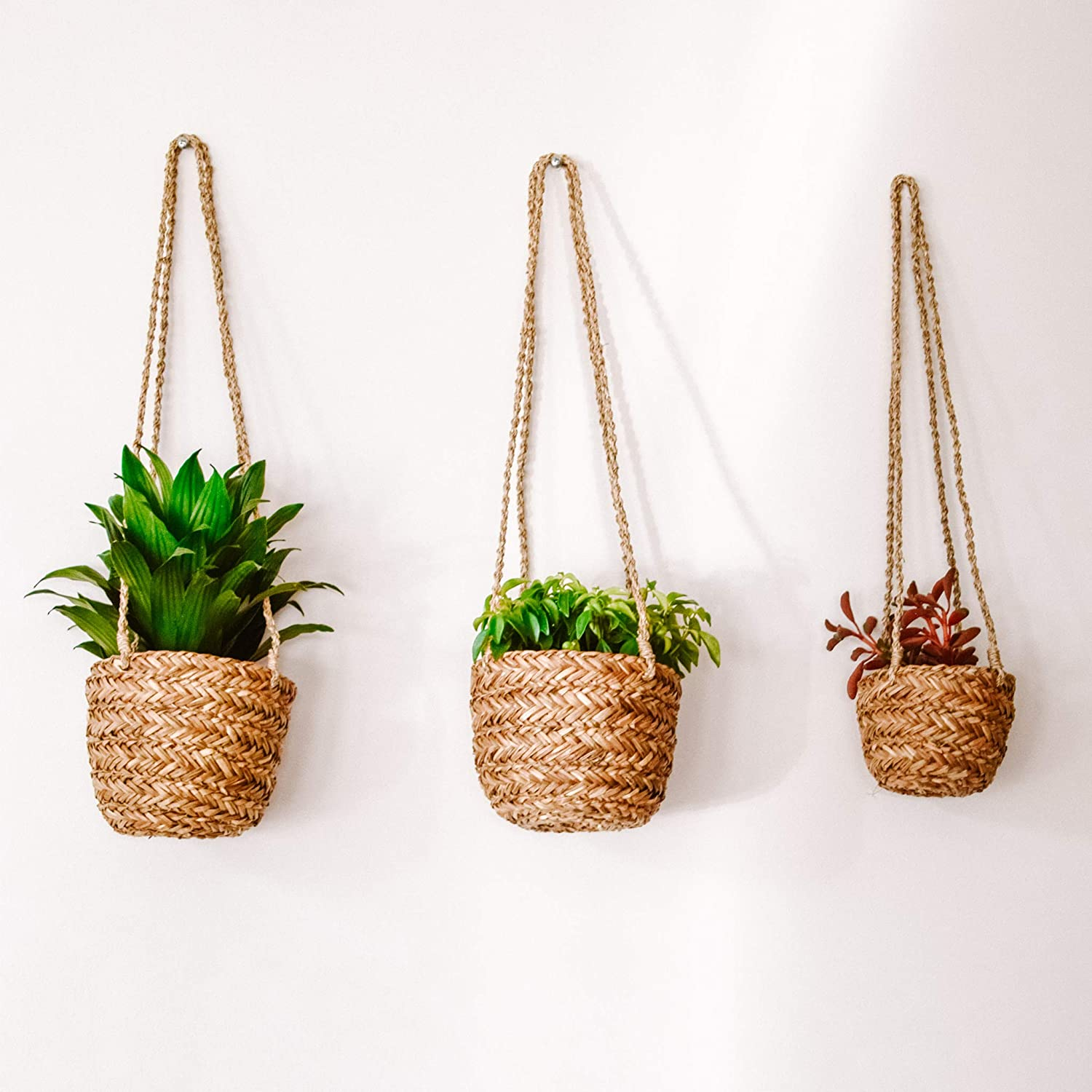 DUFMOD Hanging Seagrass Planter Basket