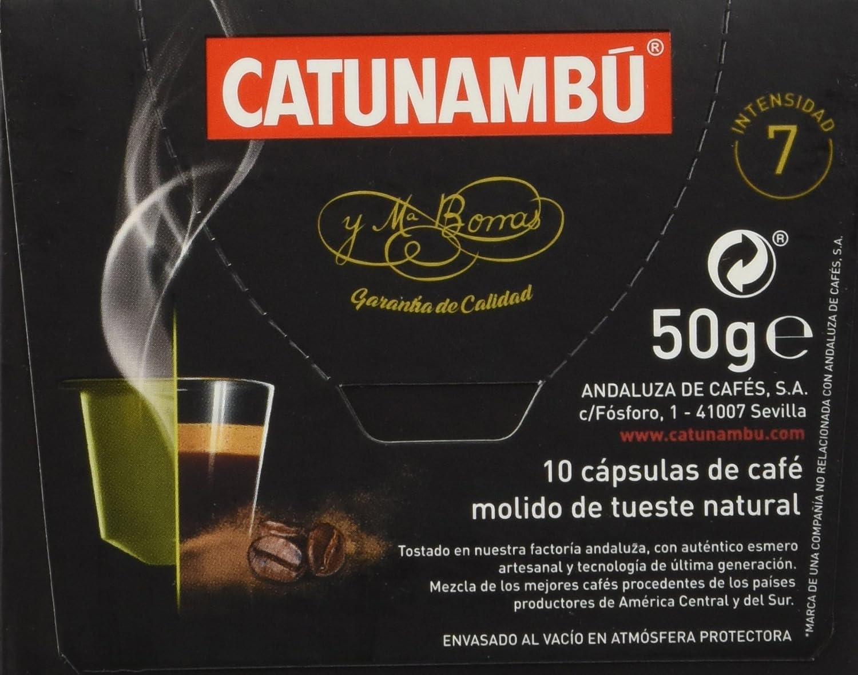Catunambu Exótico Intensidad 7 Café - 10 Cápsulas: Amazon.es: Alimentación y bebidas