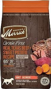 Merrick Grain Free Dry Dog Food Real Texas Beef & Sweet Potato Recipe - 10.0 lb Bag