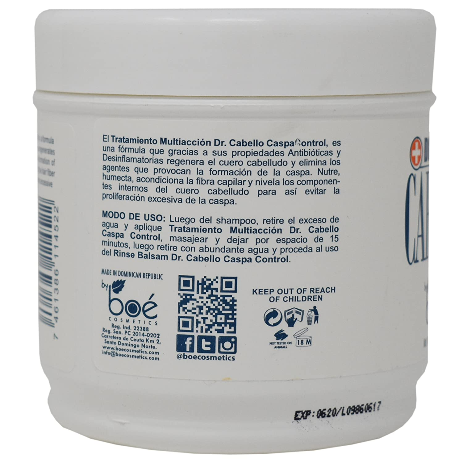Amazon.com : Dr.cabello Boe Treatment Multiaccion Dandruff Control 16oz. : Hair And Scalp Treatments : Beauty